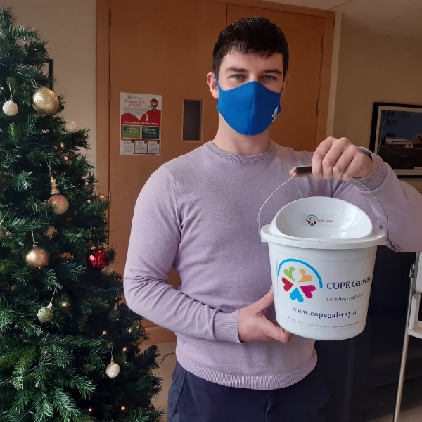 GLenman office staff raising vital funds for COPE Ireland 2020 Christmas Appeal.