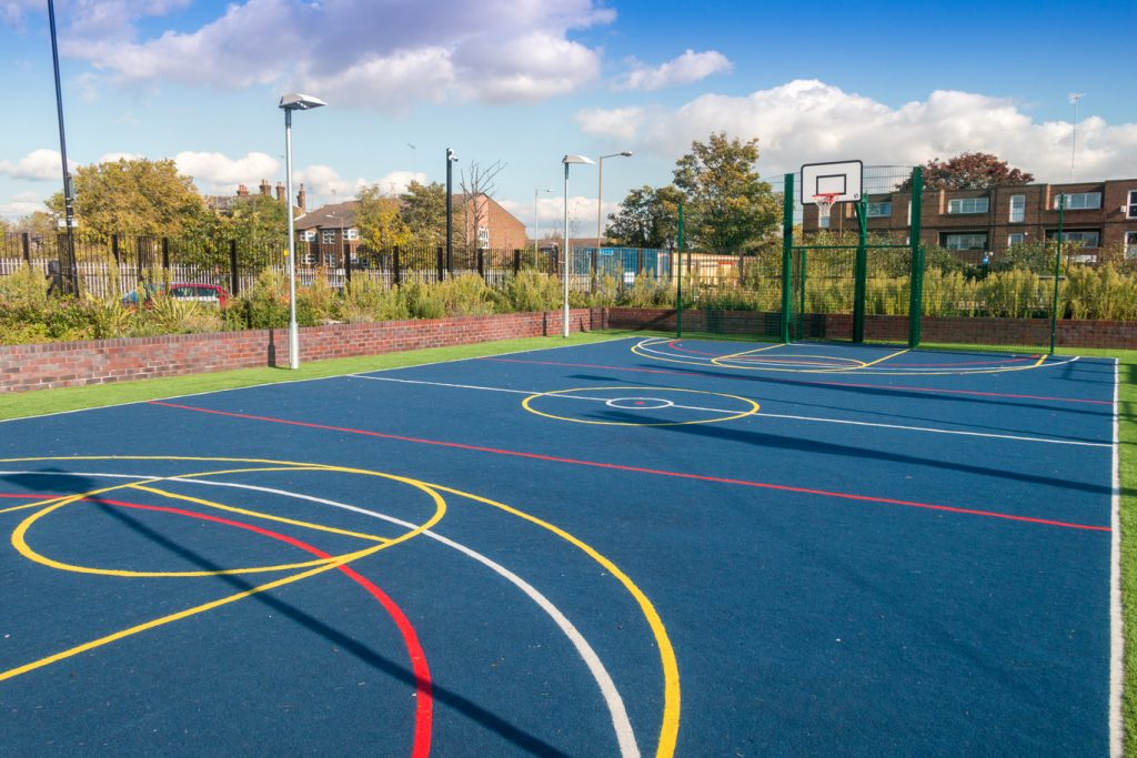 Play area at Plumcroft Primary