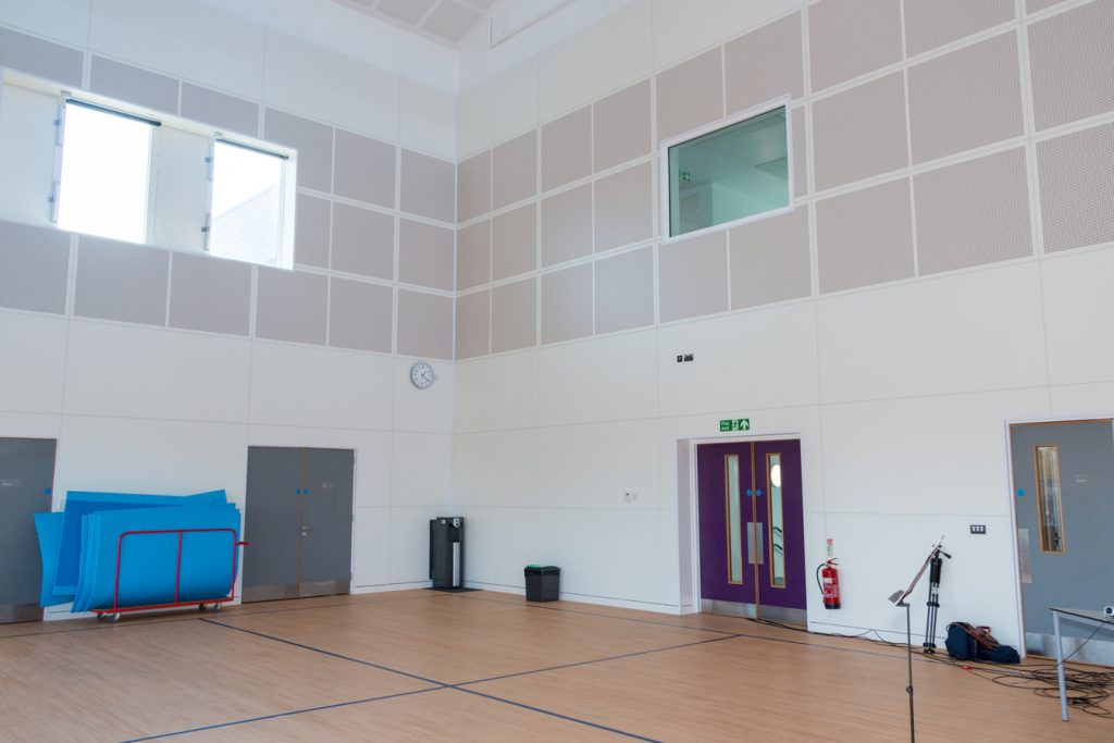 The gym at Plumcroft Primary