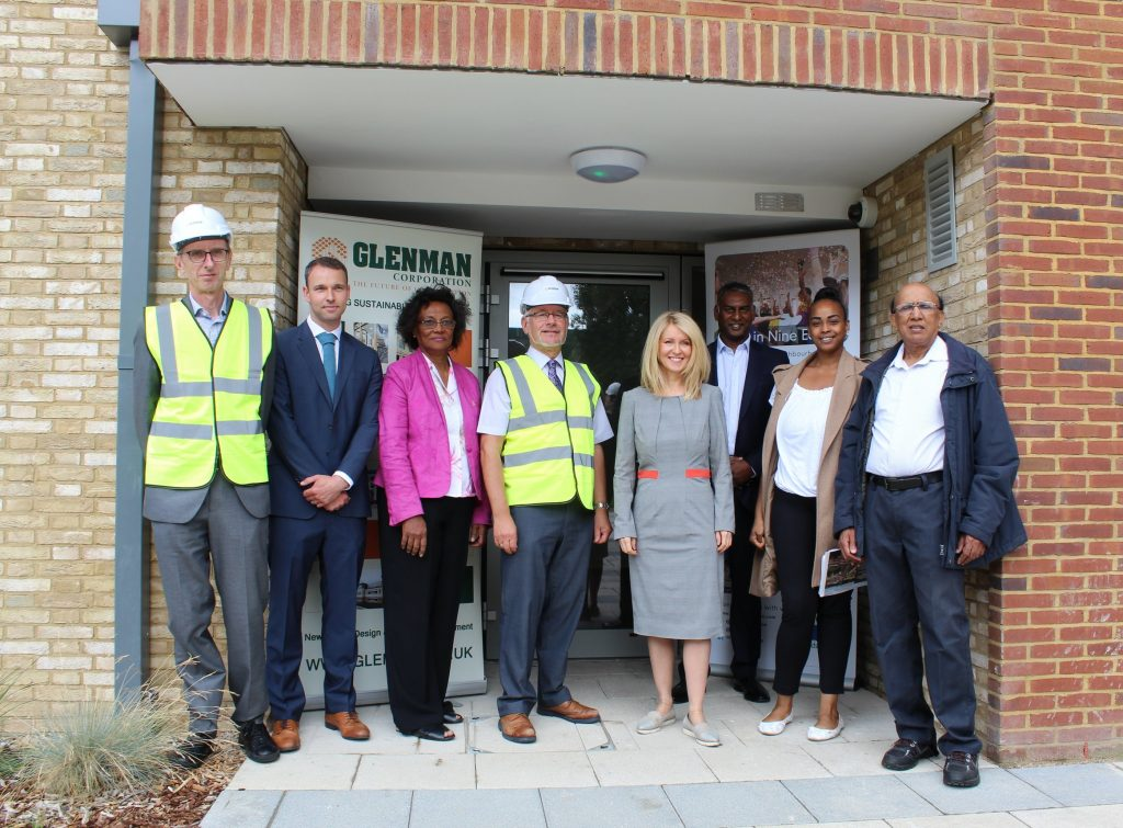 Glenman Corporation welcomes Housing Minister Esther McVey to Edward Foster Court