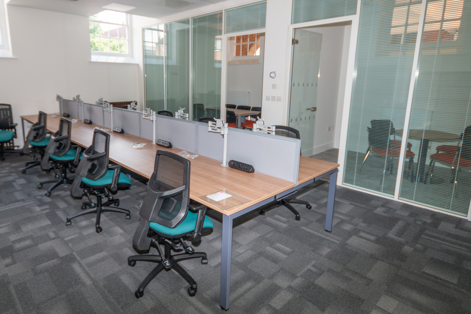 Staff at the newly renovated building in High Wycombe now have a beautiful and practical work environment to operate in.