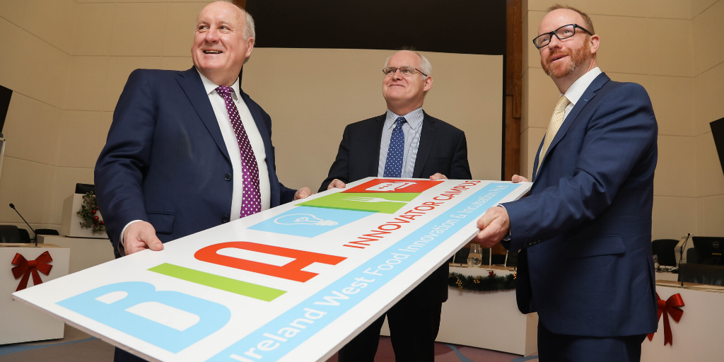 Glenman Corporation director Albert Conneally (pictured left) with Peter Feeney, Chairman of the BIA Innovator Campus CLG (centre).