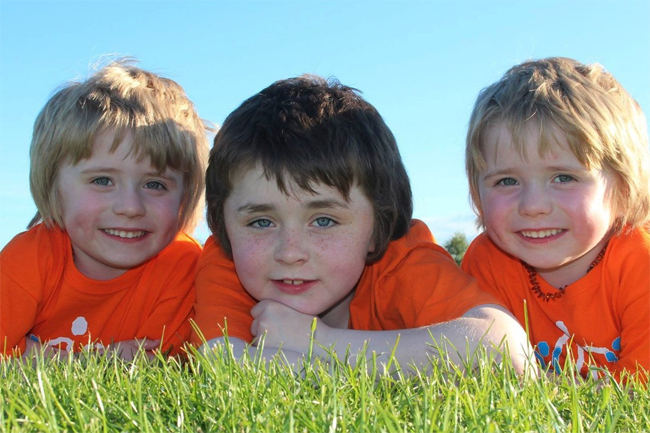 George, Archie and Isaac Naughton